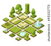 isometric urban elements and... | Shutterstock . vector #693152773