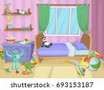 room for kids with funny toys... | Shutterstock . vector #693153187
