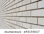 white brick wall with... | Shutterstock . vector #693155017
