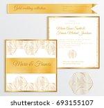 luxury wedding invitation...   Shutterstock .eps vector #693155107