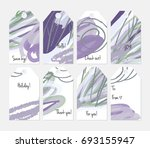 hand drawn creative tags.... | Shutterstock .eps vector #693155947