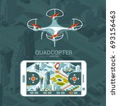 vector illustration with quad... | Shutterstock .eps vector #693156463