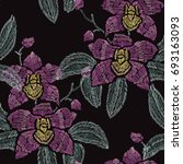 elegant seamless pattern with...   Shutterstock . vector #693163093
