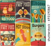 fast food  posters set  ... | Shutterstock .eps vector #693190867
