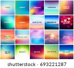 big set of 20 square blurred... | Shutterstock .eps vector #693221287