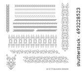 calligraphic borders  patterns  ... | Shutterstock . vector #693228523