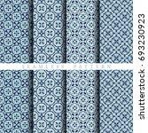 seamless floral tile pattern   Shutterstock .eps vector #693230923