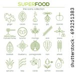 superfood  line icon set.... | Shutterstock .eps vector #693251383