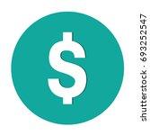 dollar sign icon on white... | Shutterstock .eps vector #693252547