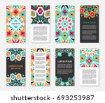 embroidery style vertical flyer ... | Shutterstock .eps vector #693253987