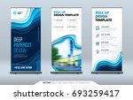 business roll up banner stand.... | Shutterstock .eps vector #693259417