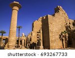 ruins of ancient egyptian... | Shutterstock . vector #693267733