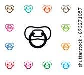 isolated nursery icon. nipple... | Shutterstock .eps vector #693271057