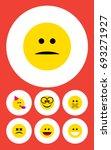 flat icon emoji set of...   Shutterstock .eps vector #693271927
