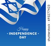 banner or poster of israel...   Shutterstock .eps vector #693277423
