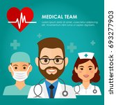 team of health workers icons ... | Shutterstock .eps vector #693277903