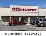 Small photo of Ft. Wayne - Circa August 2017: Office Depot Strip Mall Location. Office Depot has combined annual sales of approximately $11 billion V