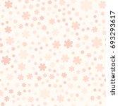 rose flower pattern. seamless... | Shutterstock .eps vector #693293617