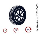 wheel icon  vector best flat... | Shutterstock .eps vector #693310453