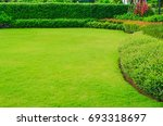 green lawn  the front lawn for... | Shutterstock . vector #693318697