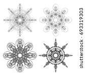 kaleidoscopic mandala inspired... | Shutterstock . vector #693319303