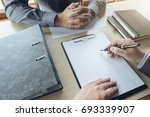 job interview  young attractive ... | Shutterstock . vector #693339907