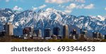 salt lake city panoramic | Shutterstock . vector #693344653
