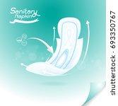 sanitary napkin vector... | Shutterstock .eps vector #693350767