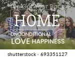 family parentage home love... | Shutterstock . vector #693351127