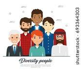diversity people concept | Shutterstock .eps vector #693364303
