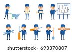 set of workman characters... | Shutterstock .eps vector #693370807