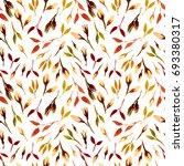 watercolor bud repeat pattern.... | Shutterstock . vector #693380317