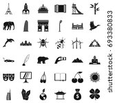 big world icons set. simple... | Shutterstock .eps vector #693380833