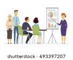 business meeting   vector... | Shutterstock .eps vector #693397207