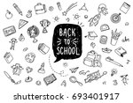 concept of education. back to... | Shutterstock .eps vector #693401917