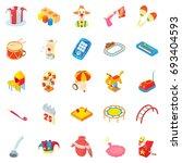 pleasure icons set. cartoon set ... | Shutterstock .eps vector #693404593