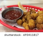 a crunchy fried shrimps with... | Shutterstock . vector #693411817