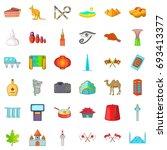 beautiful landmark icons set.... | Shutterstock .eps vector #693413377