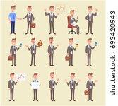 set of business man in... | Shutterstock .eps vector #693420943