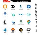 cripto currency logo set ... | Shutterstock .eps vector #693422317