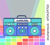 80s retro style. vintage retro... | Shutterstock .eps vector #693429703