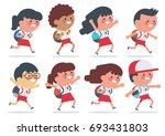 indonesian elementary school... | Shutterstock .eps vector #693431803