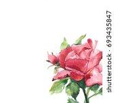 hand made rose flower  isolated ...   Shutterstock . vector #693435847