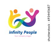 infinity people logo template.... | Shutterstock .eps vector #693445687
