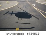 aerial of helicopter shadow on...
