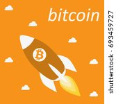 bitcoin cripto currency... | Shutterstock .eps vector #693459727