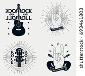 rock n roll prints for t shirt. ... | Shutterstock .eps vector #693461803