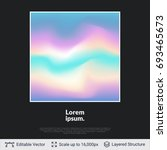 multicolored waves on black... | Shutterstock .eps vector #693465673