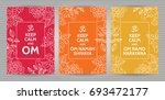 meditation and spiritual... | Shutterstock .eps vector #693472177