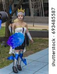 Small photo of COMICON, MELBOURNE, VICTORIA,AUSTRALIA-4th SEPT 2016:-Comicon is a international event where people dress up as favourite cartoon, fantasy or manga characters.